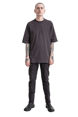Shop Conscious Modern Menswear Designer Sandro Marzo Spring Summer 2021 Collection Dark Grey T5-20 MAJ Oversized T-Shirt at Erebus