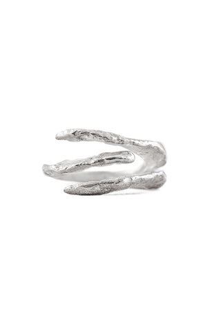 Shop Slow Fashion Artisanal Dark Jewellery Designer Maya Noach Sterling Silver Talon Ring at Erebus