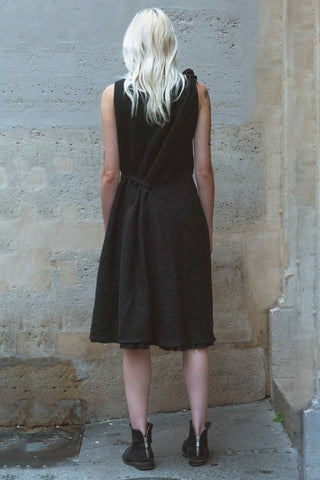 Shop Couture Conscious Dark Avant-garde Luxury Designer Brand Sandrine Philippe SS20 Femme Collection Black Knot Dress at Erebus
