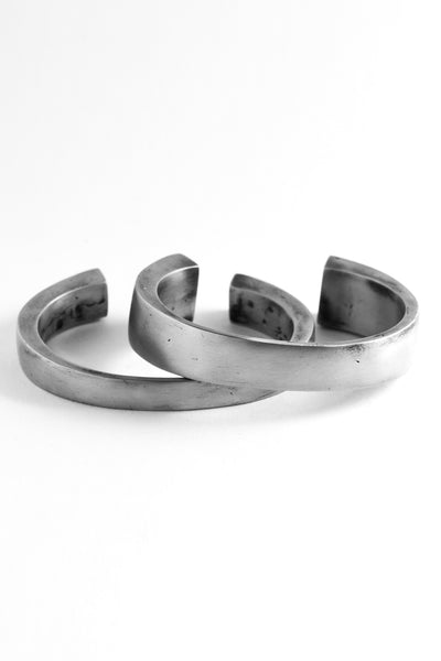 Shop Emerging Slow Fashion Avant-garde Jewellery Brand OSS Haus Awakening Collection Silver Toro Bangles at Erebus