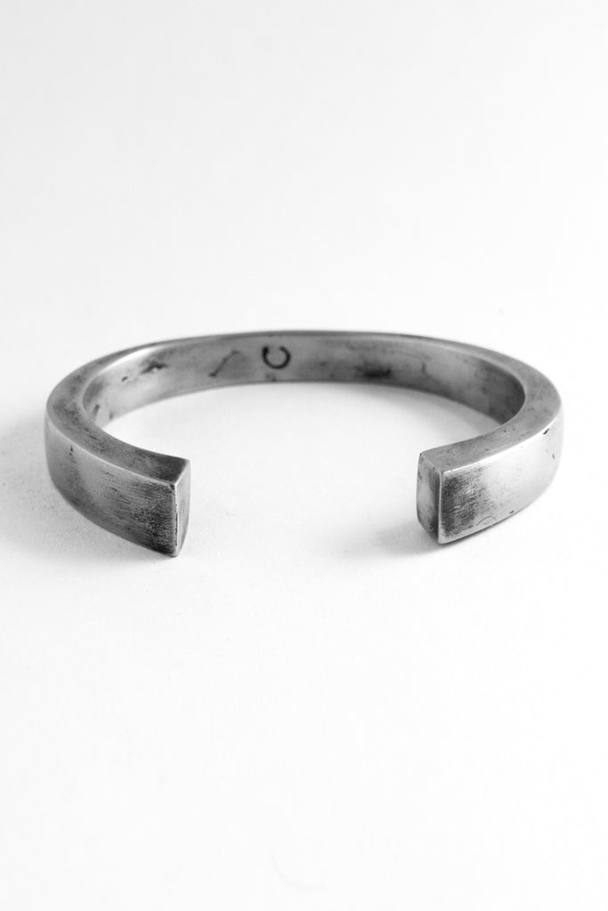 Shop Emerging Slow Fashion Avant-garde Jewellery Brand OSS Haus Awakening Collection Silver Medium Toro Bangle at Erebus