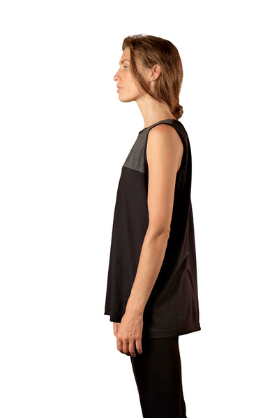 Shop Emerging Slow Fashion Genderless Avant-garde Designer Mark Baigent Monochrome Loose Tank at Erebus