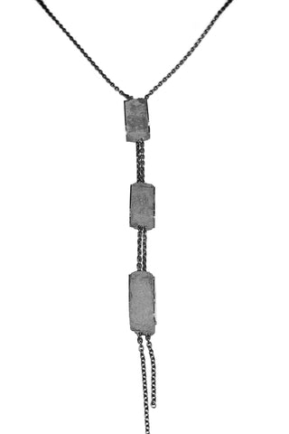 Shop Emerging Slow Fashion Avant-garde Jewellery Designer David Gaboriau Oxidised Silver and Concrete The Fall Necklace at Erebus