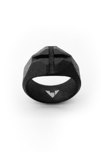 Shop Emerging Men's Jewellery Brand Bazelet Black Thor RAW Ring at Erebus
