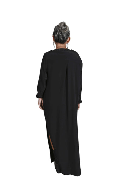 Shop Emerging Slow Fashion Genderless Avant-garde Designer Mark Baigent Rhiannon Collection Trinity Dress at Erebus