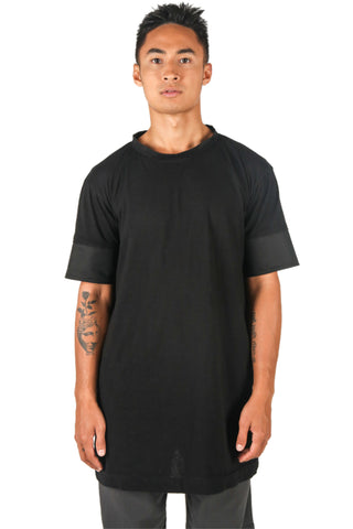 Shop Fair Fashion Genderless Avant-garde Basics Brand PULSE by Mark Baigent Collection Black Tunica Media Shirt at Erebus