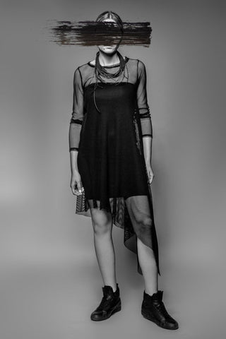 Shop Emerging Avant-garde Slow Fashion Womenswear Brand MAKS Sheer Tunic at Erebus