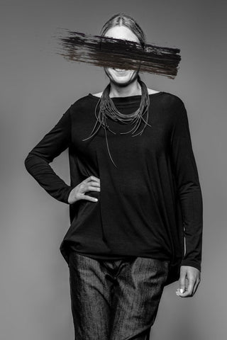 Shop Emerging Avant-garde Slow Fashion Womenswear Brand MAKS Circle Tunic at Erebus