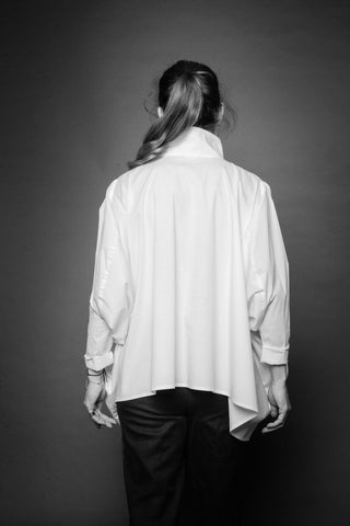 Shop Conscious Dark Fashion Brand MAKS Design SS20 White Cube Shirt at Erebus
