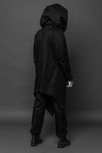 Shop Conscious Dark Fashion Brand MAKS Design AW2020 Black Spice Coat at Erebus