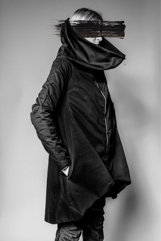 Shop Emerging Avant-garde Slow Fashion Womenswear Brand MAKS High Collar Jacket at Erebus