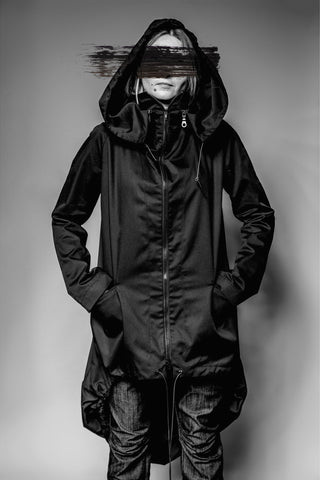 Shop Emerging Avant-garde Slow Fashion Womenswear Brand MAKS Hooded Bubble Jacket at Erebus