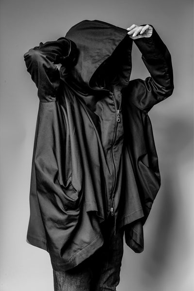 Shop Emerging Avant-garde Slow Fashion Womenswear Brand MAKS Short Cube Jacket at Erebus