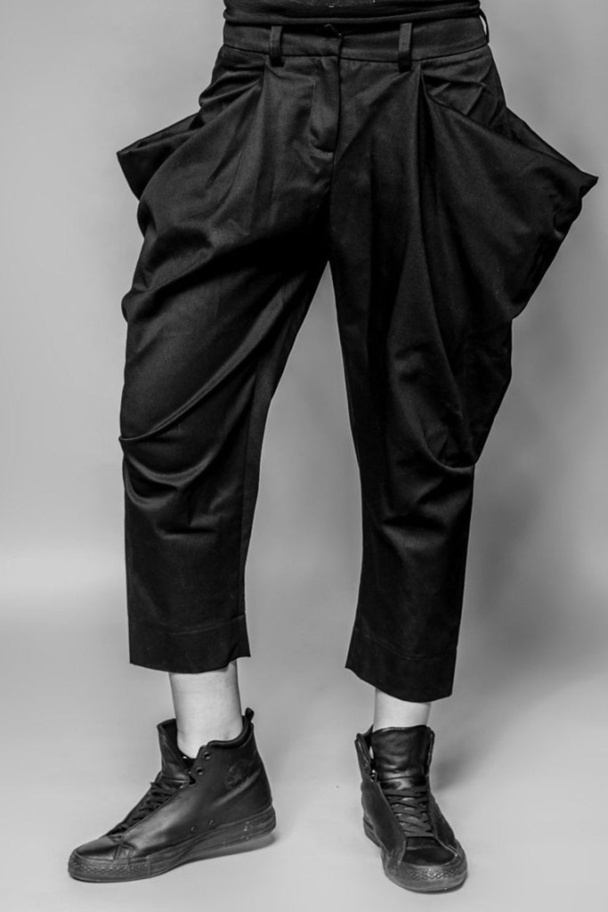 Shop Emerging Avant-garde Slow Fashion Womenswear Brand MAKS Wing Trousers at Erebus