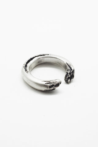 Shop Emerging Slow Fashion Avant-garde Jewellery Brand OSS Haus Broken Dreams Collection Oxidised Silver Acid Ring at Erebus