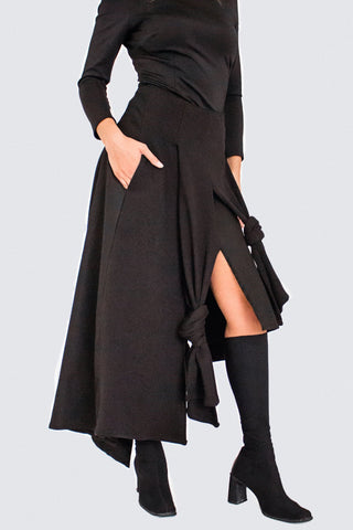 Shop Emerging Slow Fashion Womenswear Brand CLON8 Black Balans Skirt at Erebus