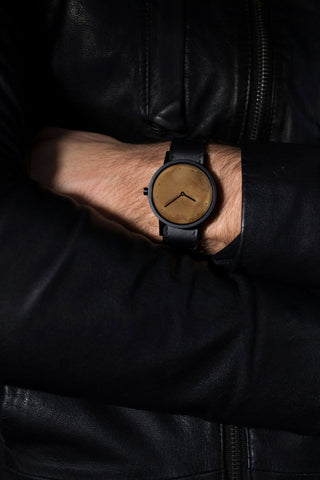 Shop emerging avant-garde accessory brand South Lane Avant Exposed Black Watch at Erebus
