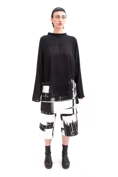 Shop Emerging Slow Fashion Futuristic Unisex Brand Fuenf Raglan Panel Sweatshirt at Erebus