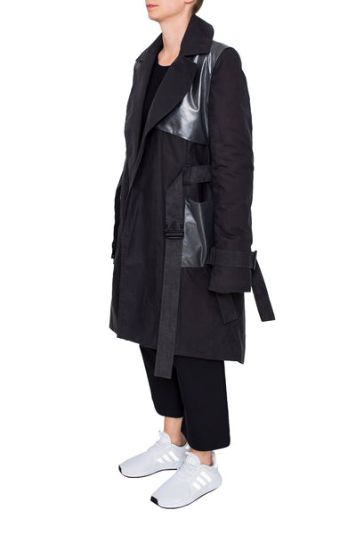 Shop Emerging brand Monochrome Anthracite Coat at Erebus