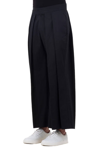 Shop emerging unisex brand Monochrome Hakama Trousers Black - Erebus - 1