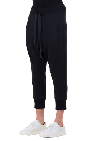 Shop emerging unisex brand Monochrome black Runner Pants - Erebus - 1