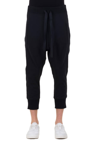 Shop emerging unisex brand Monochrome black Runner Pants - Erebus - 4