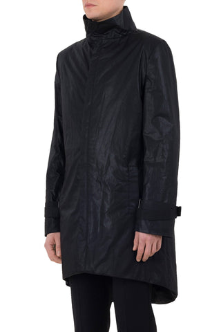 Shop emerging unisex brand Monochrome Waxed Coat Black - Erebus - 1