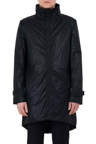 Shop emerging unisex brand Monochrome Waxed Coat Black - Erebus - 5