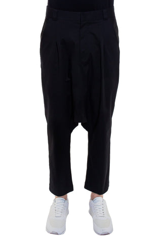 Shop Emerging Brand Monochrome Unisex Black Gusset Trousers at Erebus