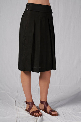 Shop Emerging Slow Fashion Conscious Conceptual Brand Cora Bellotto Black Hemp Giada Skirt at Erebus