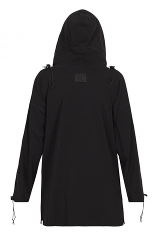 Shop Emerging Unisex Street Brand Monochrome Black Cotton Jersey Hooded Kimono Shirt at Erebus