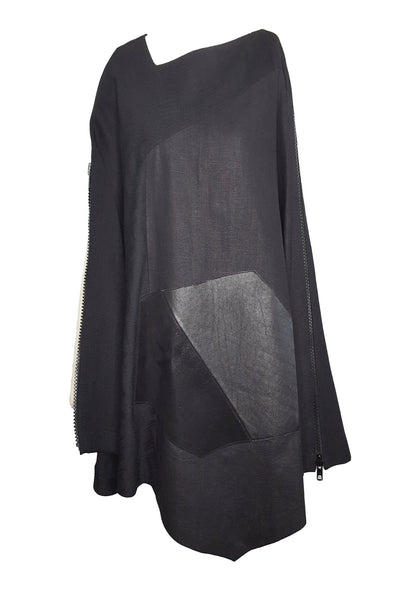 Shop Emerging Conscious Avant-garde Gender-free Brand Supramorphous Black Open Poncho at Erebus