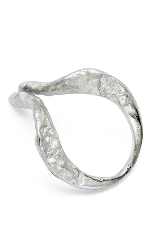 Shop Slow Fashion Artisanal Dark Jewellery Designer Maya Noach Sterling Silver Horn Ring at Erebus