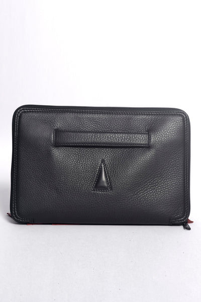 "Shop Emerging Slow Fashion Accessory Brand Anoir by Amal Kiran Jana 11"" Leather Laptop Case at Erebus"
