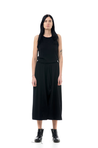 Shop Emerging Dark Conscious Gender-free Designer LAURIJARVINENSTUDIO Black Bamboo Viscose B P Skirt at Erebus