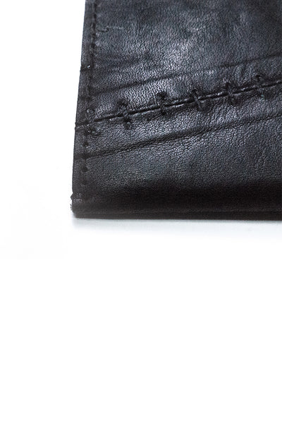 Shop Emerging Slow Fashion Avant-garde Artisan Leather Brand Gegenüber Black Wunde Wallet at Erebus