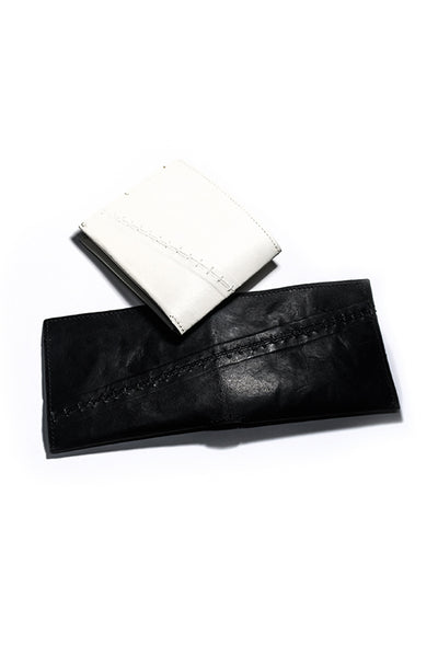 Shop Emerging Slow Fashion Avant-garde Artisan Leather Brand Gegenüber Wunde Wallet at Erebus