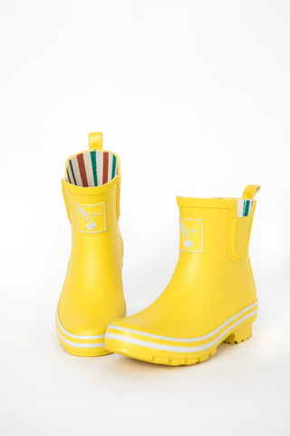 Evercreatures Yellow Meadow Ankle Wellies