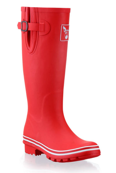Evercreatures Plain Red Tall Wellies