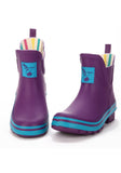 Evercreatures Eggplant Meadow Ankle Wellies