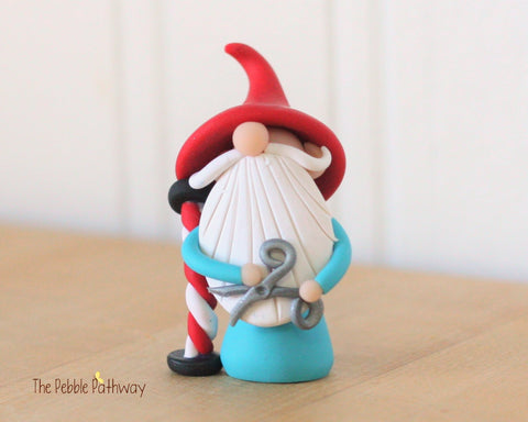Barber Gnome - Hair Dresser Gnome - Career Gnomes and Fairies - Figurine Ornament 0327