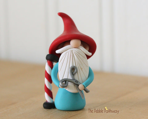 Barber Gnome - Hair Dresser Gnome - Career Gnomes and Fairies - Figurine Ornament 0328