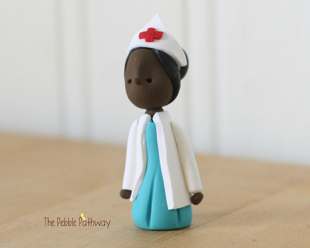Career Fairy - Brown skin Nurse 0331 - ThePebblePathway