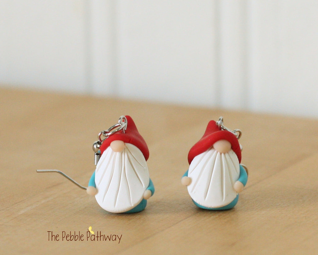 Tiny Gnome Earrings 0335 - ThePebblePathway