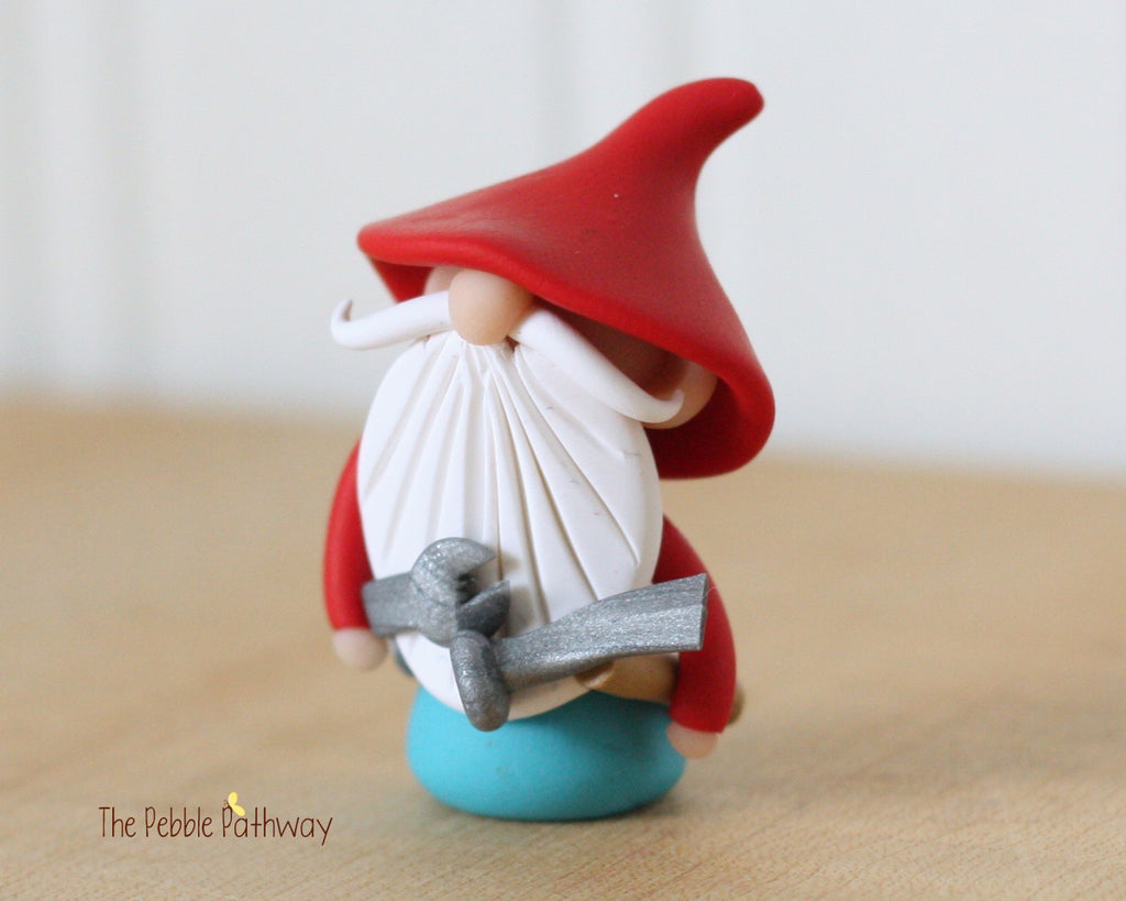 Handyman Gnome - Career Gnomes and Fairies - Working Gnome Plumber Mechanic 0351 - ThePebblePathway