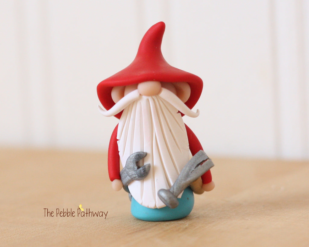 Handyman Gnome - Career Gnomes and Fairies - Working Gnome Plumber Mechanic 0353