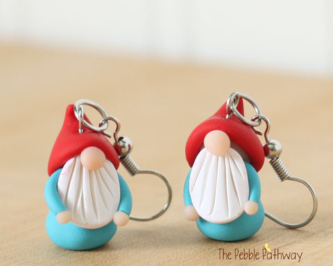 Tiny Gnome Earrings 0353 - ThePebblePathway