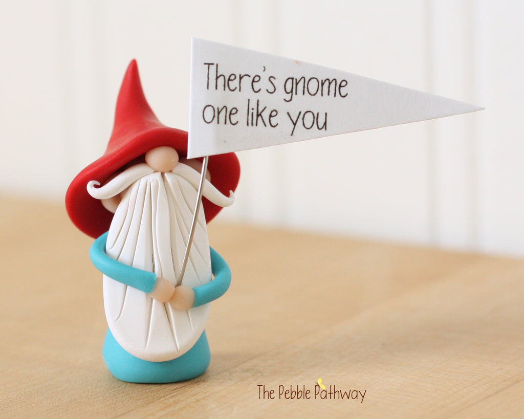There's Gnome One Like You - Greeting Gnome 0427 - ThePebblePathway