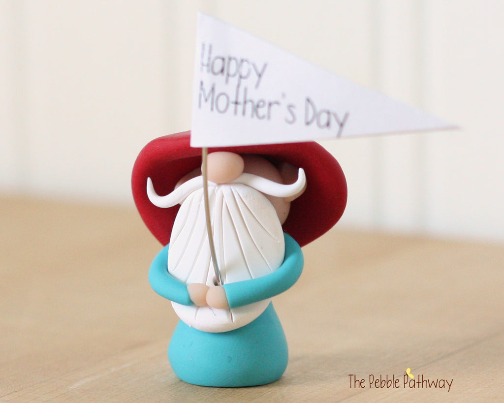 Happy Mother's Day Greeting Gnome 0433 - ThePebblePathway