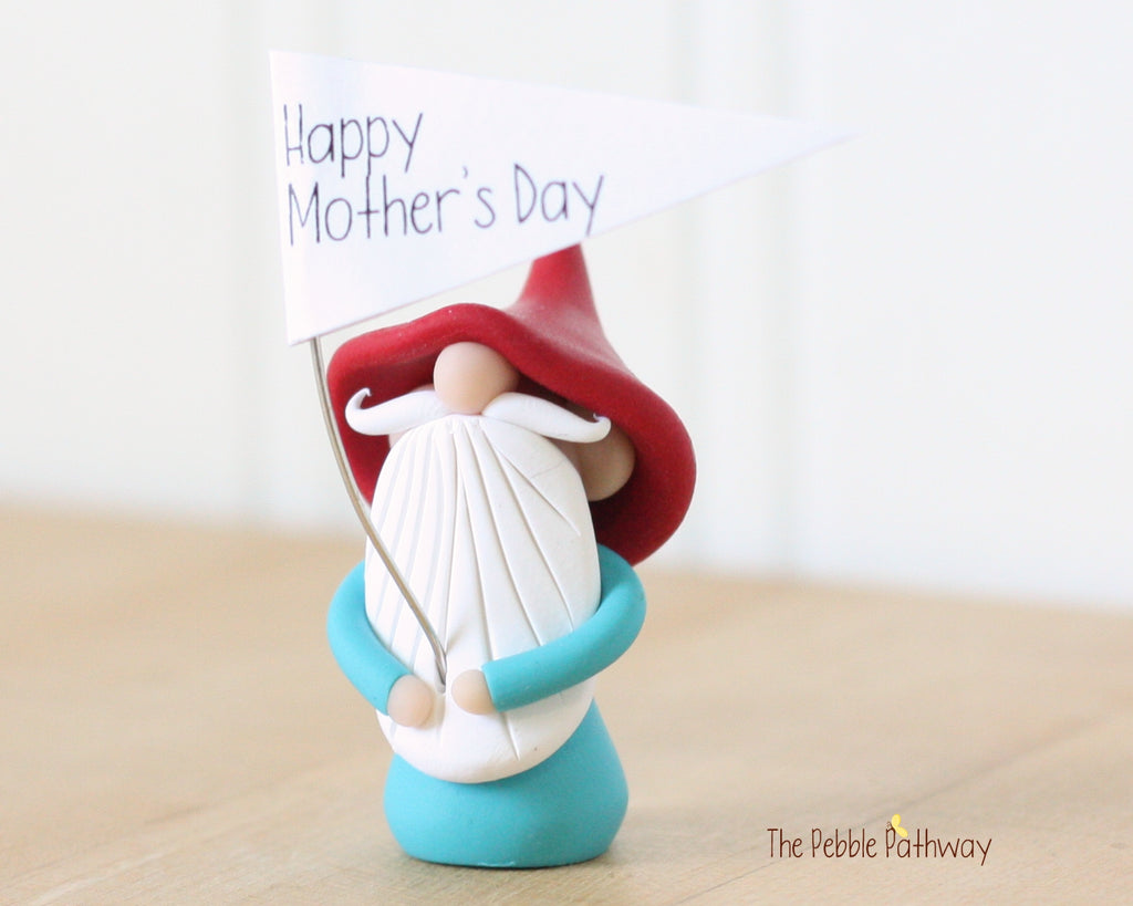 Happy Mother's Day Greeting Gnome 0434 - ThePebblePathway